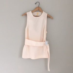 NWT Free People All Things New tank top peach S